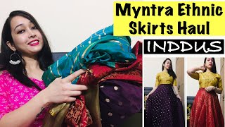 MYNTRA ETHNIC SKIRTS HAUL | WEDDING/PARTY WEAR SKIRTS | INDDUS HAUL | NEETU UNIYAL
