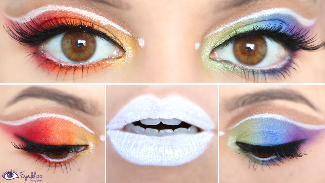 How to Apply Rainbow Eyeshadow