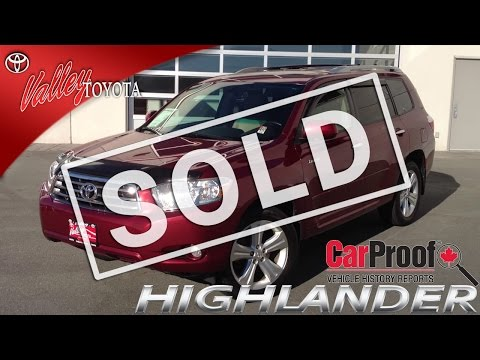 (SOLD) 2008 Toyota Highlander Limited Preview, At Valley Toyota Scion In Chilliwack, B.C. # 14348B