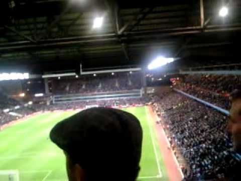 The Upper Holte End when Marc Albirghton got the 20,000th Premier League goal against Arsenal