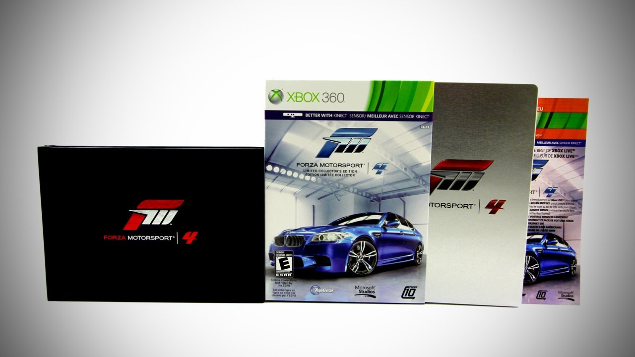 forza motorsport 4 limited collector 39 s edition unboxing. Black Bedroom Furniture Sets. Home Design Ideas