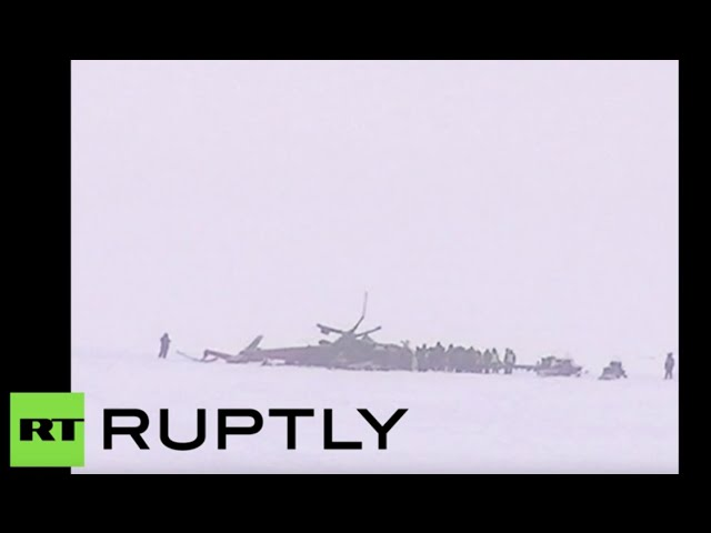 RAW: 15 killed in helicopter crash in Siberia