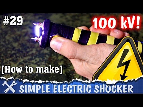How to make electric shocker. DIY high voltage teaser