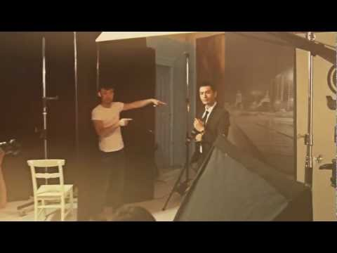 Huang Xiaoming photo shoot – Behind the scenes