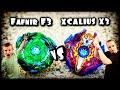 BeyBlade Burst Evolution Drain Fafnir F3 vs Surge Xcalius X3 Battle | Hasbro SwitchStrike BeyBlades