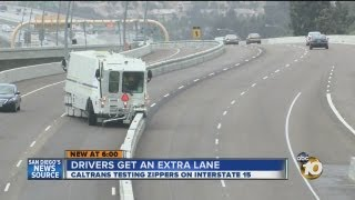 """TRAFFIC: Drivers Get Extra Lane During Rush Hour with """"Zipper"""" Barrier-Transfer Machines"""