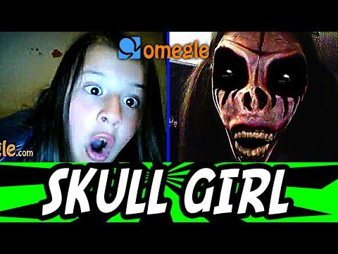 Skull Girl Scare On Omegle ! video