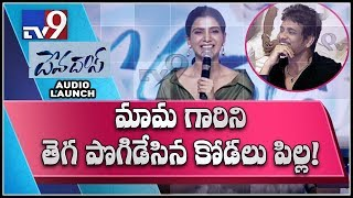 Samantha praises Nagarjuna at DevaDas Audio Launch