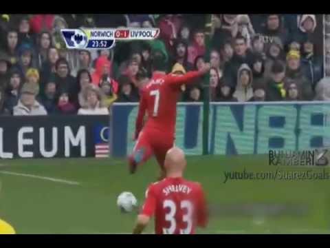 Luis Suarez Hat-trick vs Norwich