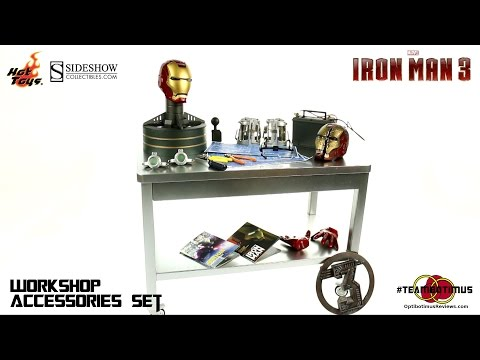 Video Review of the Hot Toys Iron Man 3: Workshop Accessory Set