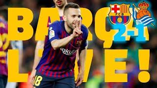 #BarçaRealSociedad | BARÇA LIVE | Warm up & Match Center