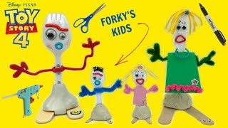 How To Make Forky and Knifeys Kids Toys Story 4 Easy Tutorial! Custom Mini Forkys