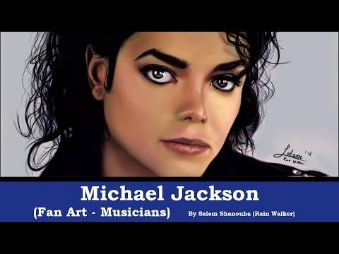 Michael Jackson Tribute Portrait (Loomis+Reilly+Free Style) -Fan art-
