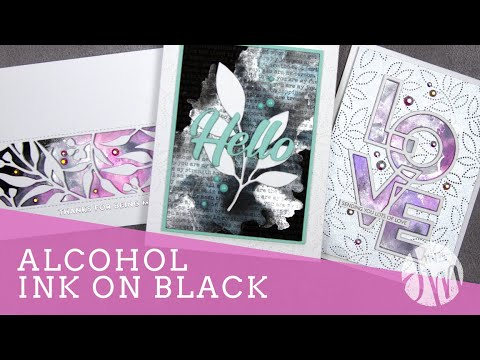 Alcohol Ink on Black Backgrounds