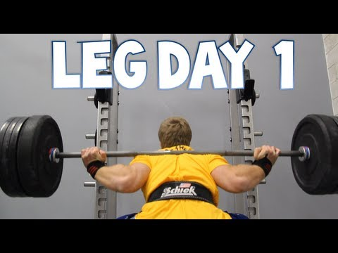 Leg Workout - Back Squats, Lunges, Front Squats | Furious Pete Image 1