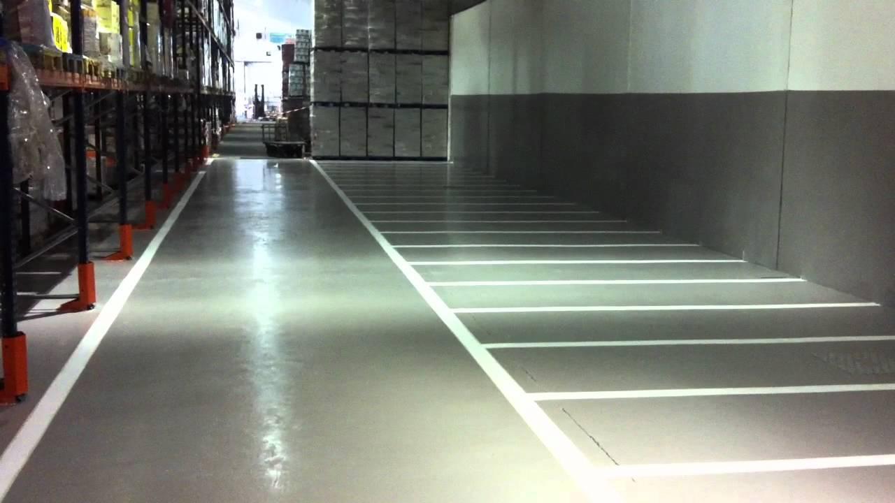 Pintura epoxi en nave industrial youtube - Pintura epoxi suelos ...