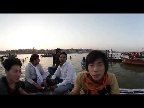 世界一周VR旅 インド#4 【バラナシの夕日 Varanasi Sunset】 VR Feel Travel