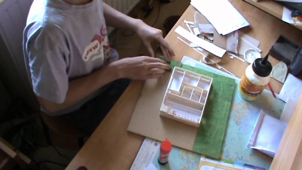Vide Slaapkamer Maken : hoe bouw je een maquette - YouTube