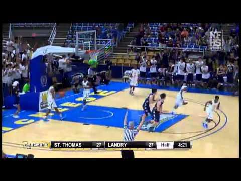 St. Thomas More #14 Trey Touchet makes corner 3