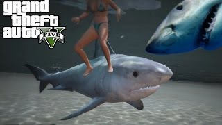 GTA 5 Mods - DEADLIEST CATCH FISHING MOD | CATCHING SHARKS AND RARE FISH!