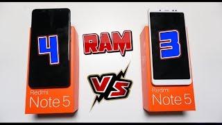 Será que Vale a pena? 4GB RAM Versus 3GB RAM no Xiaomi Redmi Note 5!