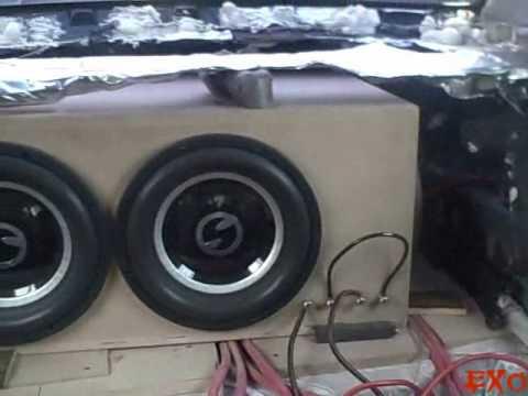Insane Subwoofer Box W  Soundstream Xxx 15 - Crazy 150db Car Audio Flex & Loudest Spl Bass Song Demo video