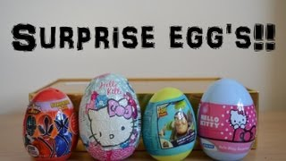 Surprise Egg Opening Hello Kitty Sanrio Toy Story Power Rangers(HD)