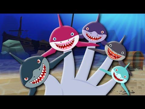 Finger Family | Shark Finger Family | Sharks | Kids Songs | Finger Family Nursery Rhymes