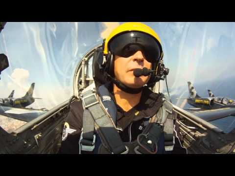Breitling Jet Team display at Festa al Cel Barcelona Airshow 2011 - Fixed onboard cam (GoPro)