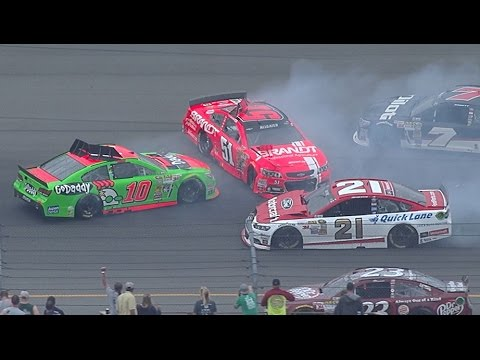 Multi Car Crash @ 2014 NASCAR Sprint Cup Michigan