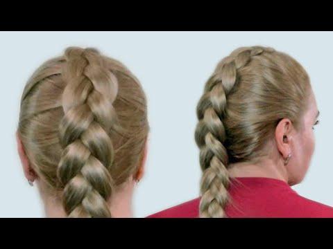 Плетение французской косы девочками