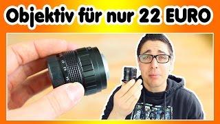Cinema Objektiv für nur 22 Euro | Neewer 35mm f 1.7 REVIEW | Technik für Youtuber #2