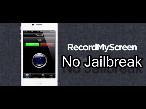 RecordMyScreen Screen Record iPhone No Jailbreak! [How to Merge Audio Also!]