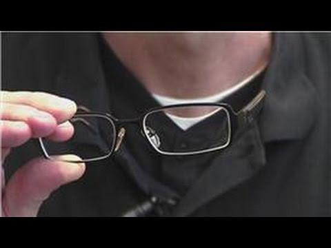 Diy Eyeglass Frame Adjustment : Eye Wear Maintenance : How To Adjust The Frames For ...