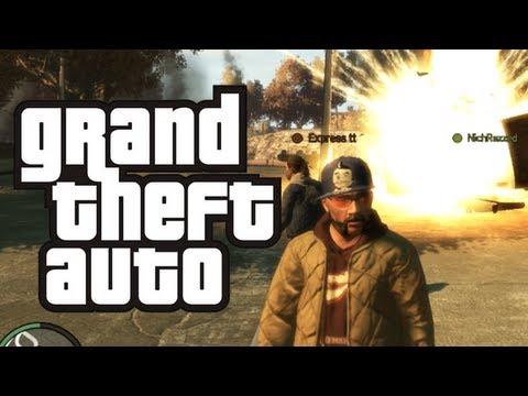 GTA 4 - Carmageddon: Multiplayer Mod! - (Funny Moments w/ Mods Online)