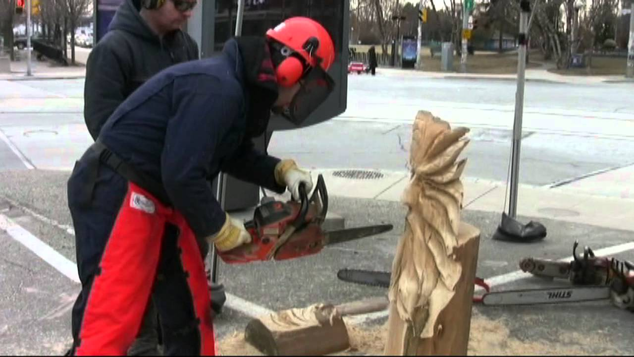 Saw dogs interview and chainsaw carving lesson with paul