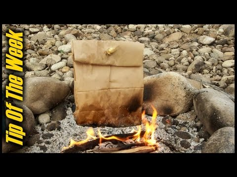 Cooking Bacon & Eggs In A Paper Bag -