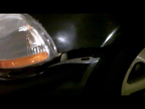 Замена переднего крыла Honda Civic. Видео!