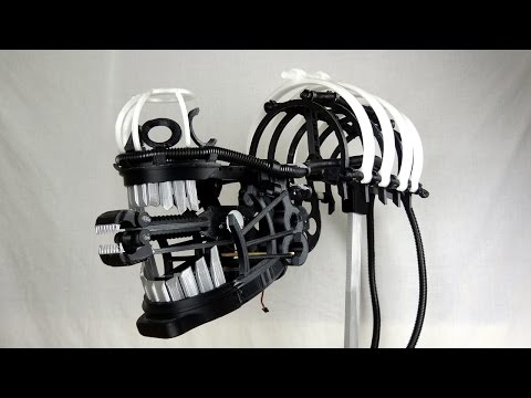 XRobots - 3D Printed Alien Xenomorph Cosplay Part 7, Piecing together the head