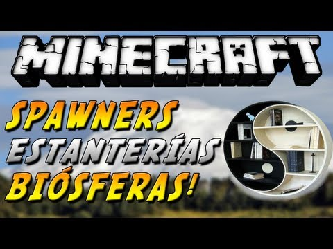 Minecraft 1.6.4 - Review de 3 MODS! (Spawner GUI, Shelf Mod, Biosphere Mod) - ESPAÑOL TUTORIAL