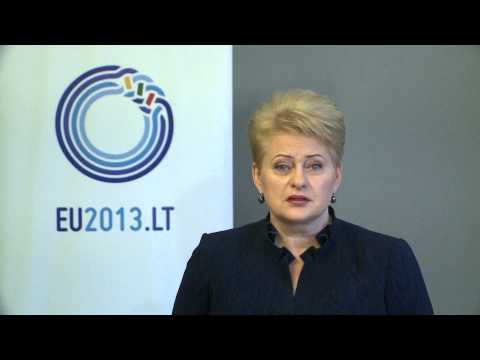 A message from President Dalia Grybauskaitė