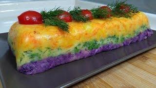 5 Çayları İçin Renkli Patates Salatası/Salata tarifi/Seval Mutfakta