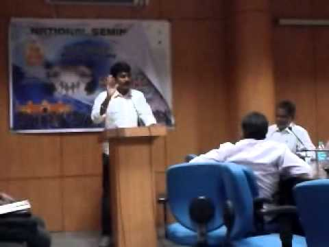 Annayya speaking at Telugu Univ   National Seminar