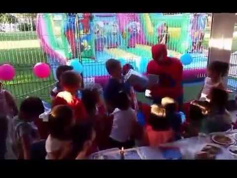 ANIMACIÓN SPIDERMAN CUMPLEAÑOS HUELVA. ANIMADORES INFANTILES