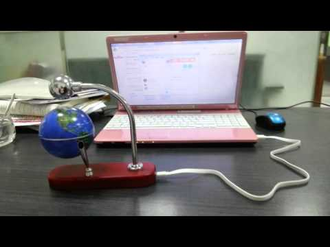 floating globe with USB cable