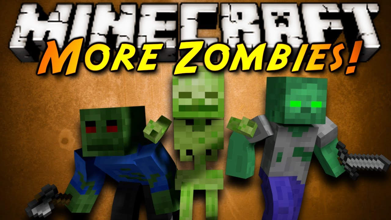 Minecraft mod showcase more zombies youtube
