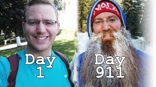 911 DAYS OF BEARD GROWTH TIME LAPSE - ROUND THE WORLD TRIP