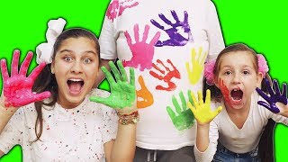 LEARN COLORS FOR CHILDREN BODY PAINT FINGER FAMILY SONG NURSERY RHYMES LEARNING VIDEO WITH MILENINHA