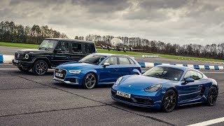 Mercedes-AMG G63 vs Porsche Cayman GTS vs Audi RS3 | Top Gear