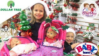 👶🏼👶🏼BABY BORN TWINS Shop DOLLAR TREE for POOR KID's Gift! 😥🌳 Day 5 - Baby Born Advent Calendar